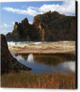 Pfeiffer Beach Landscape In Big Sur Canvas Print
