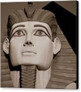 Pharaohs And Pyramids Canvas Print by Charles Dobbs