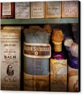 Pharmacy - Oils And Balms Canvas Print by Mike Savad
