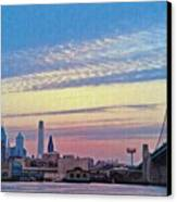 Philadelphia At Dawn Canvas Print by Bill Cannon