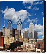 Philadelphia Blue Skies Canvas Print by Bill Cannon