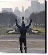 Philadelphia Champion - Rocky Canvas Print by Bill Cannon