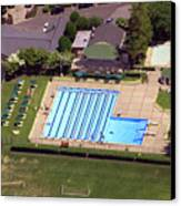 Philadelphia Cricket Club St Martins Pool 415 West Willow Grove Avenue Philadelphia Pa 19118 4195 Canvas Print by Duncan Pearson