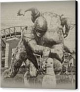 Philadelphia Eagles At The Linc Canvas Print by Bill Cannon