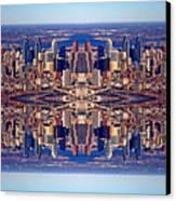 Philadelphia Geometric Collage Canvas Print