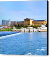 Philadelphia Museum Of Art And The Philadelphia Waterworks Canvas Print by Bill Cannon
