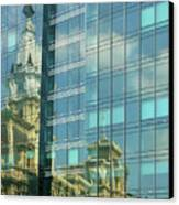 Philadelphia Reflections Canvas Print by Russ Harris