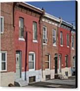 Philadelphia Row Houses Canvas Print