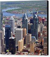 Philadelphia Skyscrapers Canvas Print by Duncan Pearson