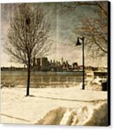 Philadelphia Snowscape Canvas Print