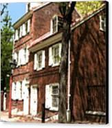 Philly Row House 2 Canvas Print by Paul Barlo