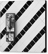 Phone And Lines Canvas Print by Dan Holm