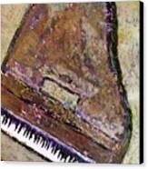 Piano In Bronze Canvas Print