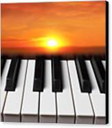 Piano Sunset Canvas Print by Garry Gay