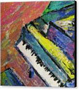 Piano With Yellow Canvas Print by Anita Burgermeister