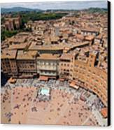 Piazza Del Camp In The Center Canvas Print by Joel Sartore