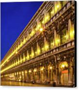 Piazza San Marco By Night Canvas Print