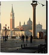 Piazzetta San Marco In Venice In The Morning Canvas Print