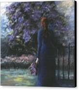 Picking Lilacs Canvas Print