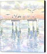 Pier Jury Canvas Print