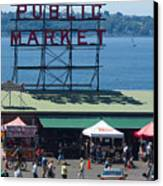Pike Place Public Market Canvas Print
