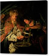 Pilate Washing His Hands Canvas Print