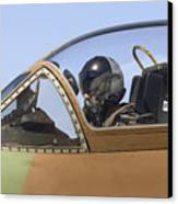 Pilot In The Cockpit Of A Skyhawk Fighter Jet  Canvas Print