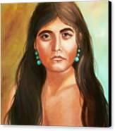 Pima Maiden Canvas Print by Joni McPherson