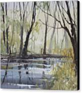 Pine River Reflections Canvas Print