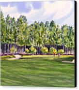 Pinehurst Golf Course 17th Hole Canvas Print by Bill Holkham
