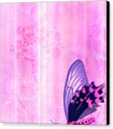Pink And Purple Butterfly Companions 2 Canvas Print