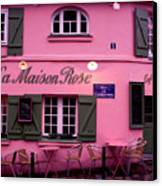 Pink House Canvas Print by Milan Mirkovic