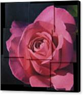 Pink Rose Photo Sculpture Canvas Print