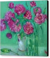 Pink Roses And Peonies         Copyrighted Canvas Print