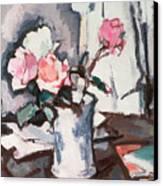 Pink Roses Canvas Print by Samuel John Peploe