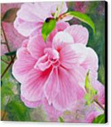 Pink Swirl Garden Canvas Print by Shelley Irish