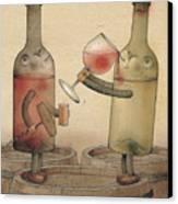 Pinot Noir And Chardonnay Canvas Print by Kestutis Kasparavicius