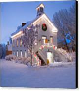 Pioneer Church At Christmas Time Canvas Print