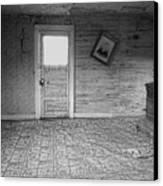 Pioneer Home Interior - Nevada City Ghost Town Montana Canvas Print