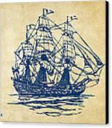 Pirate Ship Artwork - Vintage Canvas Print by Nikki Marie Smith