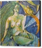 Pisces Canvas Print by Brigitte Hintner