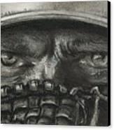 Pitchers Eyes Canvas Print by Tom Forgione