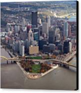 Pittsburgh 8 In Color  Canvas Print by Emmanuel Panagiotakis