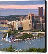 Pittsburgh Pano 23 Canvas Print by Emmanuel Panagiotakis