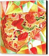 Pizza Pizza Canvas Print by Paula Ayers