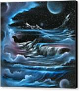 Planetary Falls Canvas Print by David Gazda