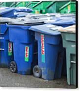 Plastic Garbage Bins Canvas Print by Don Mason