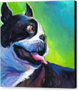 Playful Boston Terrier Canvas Print by Svetlana Novikova