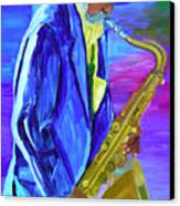 Playing The Blues Canvas Print