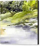 Plein Air At The Pond At Nutimik  Canvas Print